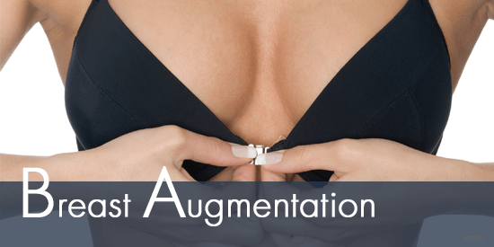 Breast Augmentation Model in Black Bra