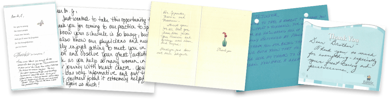 thank you card testimonials